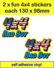 2 Stati Uniti Bad Boy 4x4 Adesivi Grafico Decalcomanie Land Rover Defender Discovery