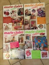 4 Magazines MARIE CLAIRE Idées année 2007 n° 64, 65, 66 et 67 en très bon état.
