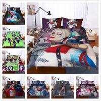 3D Suicide Squad Kids Bedding Set Duvet Cover Quilt/Comforter Cover Pillowcase