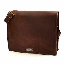 "All 11"" to 18"" Women's Leather Messenger Shoulder Satchel Laptop Briefcase Bag"