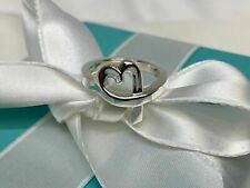 $225 Tiffany & Co. Sterling Silver 925 Paloma Picasso Loving Heart Rings