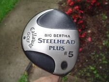 Callaway Big Bertha Steelhead Plus 5-Wood Golf Club Men's Rh Steel Shaft
