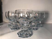 Holmegaard 6 Short red/white wine glasses -  Glassware Model Pattern 287