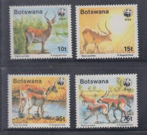 Botswana 1988 WWF Lechwe  Sc 432-435  Mint  Never Hinged