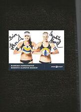 Vollyball Legends Barbora Hermannova & Marketa Slukova Nauch Signed 4 x 6 Photo