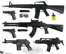 LOT of New 6 Airsoft Guns/Rifles -- Shotgun/Pistol/1911/M16/M4/props + Extras !