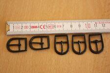 5xst. Miniature 2 cm ☆ Boucle de ceinture-Buckle ☆ Noir ☆ poupées accessoires ☆ BJD doll SD/mSD
