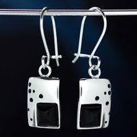 Onyx Silber 925 Ohrringe Damen Schmuck Sterlingsilber H0576
