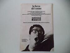 advertising Pubblicità 1974 MATERASSO PIRELLI