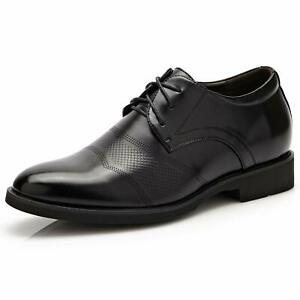 6CM/2.4IN  Taller Men  Height Increase Elevator Shoes Formal Lace Up Oxfords