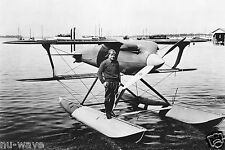1928-James H. Doolittle on his Curtiss R3C-2 Seaplane Racer-Won Schneider Race