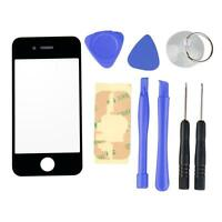 Front Replacement Outer Glass Lens Tools Screen Repair for iPhone 4G 4 4th Black