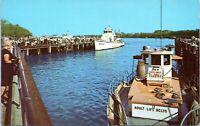 Brooklyn Sheepshead Bay Emmons Avenue Marina 1960s New York City Postcard