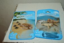 LOT 2 POCHE PLAYMOBIL ANIMAUX PHOQUE ET BEBE + TORTUES  BEBE  NEUF 9071 + 9069