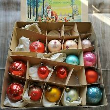 Lot 15 Vintage glass Christmas Ornaments GDR DDR