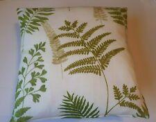 Botanical Ferns Cushion Cover Green Prestigious Textiles -  Same Backs - Zipper