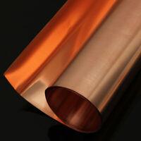 Neue Kupferblech Platten 99,9% Reines Kupferblech 0,1/0,2/0,5/1/2mm Kupferfolie
