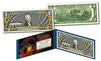 HYPNOSIS Power of Money 3-D Effect Colorized Genuine Legal Tender U.S. $2 Bill