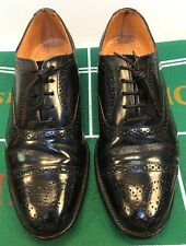 Loake Bros. Shoemakers Cap Toe Oxfords Black Leather England Men's 7 D US 6 UK