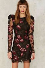 Nasty Gal Collection Bologna Embroidered Mini Dress medium new
