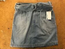 NWT WOMEN'S JOE'S JEANS DENIM PAPERBAG SKIRT MARIANNE BLUE SIZE 26 298$