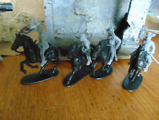 TOY SOLDIERS SAN DIEGO Civil War 4 Confederate Cavalry  w 4 Horses 1/32