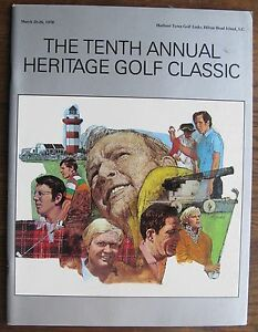 1978 Heritage Golf Classic Program Harbour Town Links Hilton Head Island