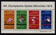 W Germany 1972 Olympic Games Mini Sheet SG MS1633 MNH