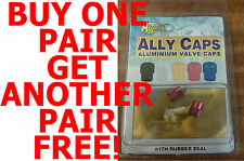 MOTRAX ALLOY RED VALVE DUST CAPS ALLOY BMX/MTB NEW WITH RUBBER SEAL AL3
