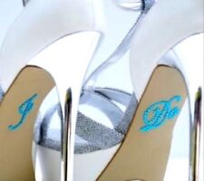 WEDDING MARRIAGE 'I DO' SHOE STICKERS AQUA/TURQUOISE/TEAL SCRIPT STICKERS NEW