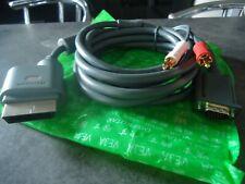 NEUF NEW VGA optique XBOX 360 officiel microsoft Scart Câble TV Lead Adaptateur