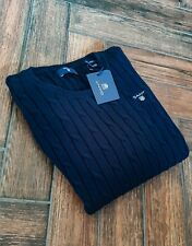 Gant navy cable knit jumper - teen/ladies XS - BNWT - RRP £90