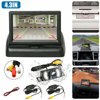 Wireless Car Backup Camera Rear View Parking System Night Vision + 4.3 Monitor