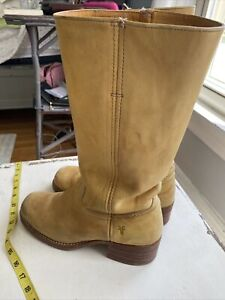 mens campus frye boots 9.5 buff color made in usa