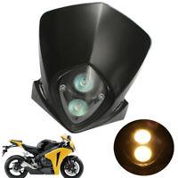 Universal Motorcycle Dirt Bike Streetfighter Headlight Lamp Fairing Halogen Bulb