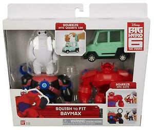 Disney Big Hero 6 Baymax & Toy Car The Series - Squsih to Fit Baymax - NEW