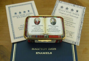 Boxed Ltd Ed Halcyon Days Life of Samuel Johnson 200th Anniversary Enamel Box