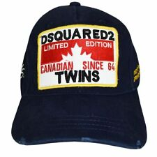 "Dsquared2 Hat NAVY Canadian SINCE 64 ""TWINS"" 2018 Limited Edition Baseball Cap"