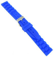 20mm Trendy Royal Blue Rubber Silicone Waterproof Watch Band Strap