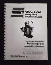 Ammco 6000, 6002, Heavy Duty Brake Lathe Operating Manual