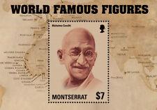 Montserrat - Mhatma Gandhi world famous Leaders Souvenir sheet
