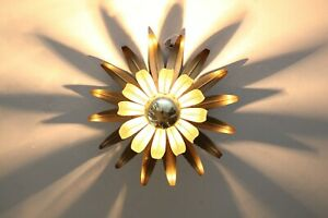 60er 70er  lampe  lamp  Gold Palme Koegl FLUSH MOUNT Deckenleuchte