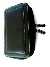 "Belkin Black Leather Zipper Case for Phone,Cards & ETC. (see photos) 4 1/2"" x 8"""