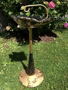 Antique Vtg MCM Mid state Foundry Mid Century AshTray Cigarette Stand 1950s Old