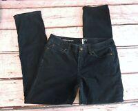 Ann Taylor Loft Modern Straight Womens Green Corduroy Jean Pants Size 8P