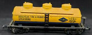 LIFE-LIKE N Scale: GOODYEAR TIRE 3-Dome Tank Car UTLX #2586 VINTAGE, yellow
