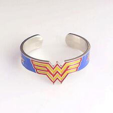Wonder Metal Bangle Women Bracelet Stars Superhero Open Bracelet Movie Jewelry