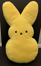 Easter Peeps Bunny Rabbit Yellow Plush Just Born Stuffed Animal Pillow Large 21""