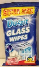DUZZIT GLASS WINDOW MIRROR CLEANER CLEANING WIPES PACK OF 50 25% EXTRA