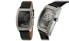 NEW Blumarine 62622852 Womens Black Mother Of Pearl Watch Logo On Black Dial
